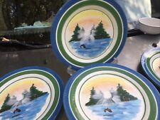 4~Northwest Collection Lodge Style Julie Ulenda For Harry & David Plates