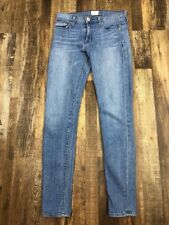 HUDSON Womens 24 Medium Blue Nico Super Skinny Mid Rise 5 Pocket Jeans