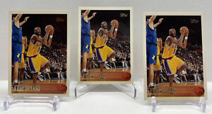 3 Card Lot Kobe Bryant RC 1996-97 Topps Basketball ROOKIE Card #138 Lakers 3x