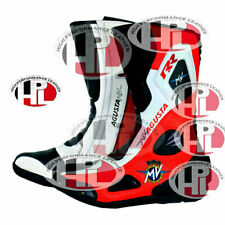 NEW MOTORBIKE/MOTORCYCLE MV AGUSTA RR F4 F3 RACING LEATHER SHOES/BOOTS ALL SIZE
