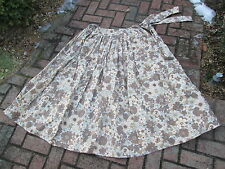 Reenactor 19Th C Autumn Country Petticoat L Xl Floral Sash Bow New Skirt Tan