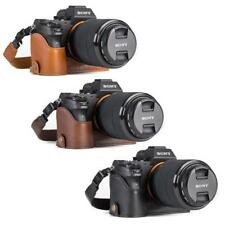 MegaGear Leather Camera Case for Sony Alpha a7S II, a7R II, a7 II with Strap