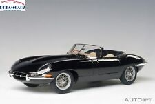 AUTOart 73605 1:18 Jaguar E-Type Roadster 3.8, Series1, Black, metal wire wheels