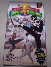 MIGHTY MORPHIN POWER RANGERS HAPPY BIRTHDAY ZACK VHS
