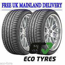 2X Tyres 275 35 R18 99Y Continental ContiSportContact 3 E B 74dB
