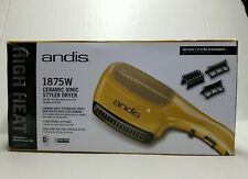 Andis Ceramic Ionic Styler Hair Dryer Gold 1875W 3 Attachments Open Box Not used