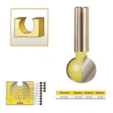 "Tungsten Carbide Round Carving Router Bit- 1/2*3/4- 1/2"" Shank -"