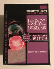 NEW NIB PLASMA LAMP WITCH electric Halloween Prop Decoration EERIE DESCENTS 2002
