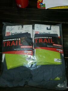 Injinji Toe Socks 6 PACK Running Trail Performance 2.0 Mid weight XL Mini Crew