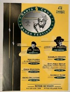 Santa Cruz Blues Festival Concert Poster 1996