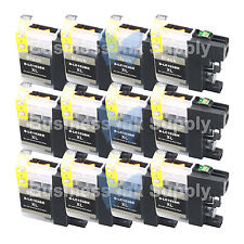 12 BLACK New LC103 LC103XL LC103 for Brother LC-103 LC101 LC 103 LC101BK LC103BK