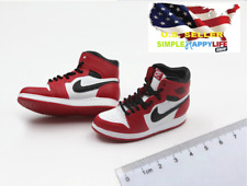 1/6 men white red sneakers shoes HOLLOW basketball for hot toys phicen ❶USA❶