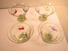 Villeroy And Boch French Garden Footed Bowls Set Of 4 NIB Sherbet Desserts More