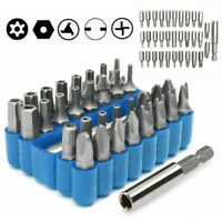 33pcs Security Bit Set Tamper Proof Torx Spanner Screwdriver Star Hex Holder