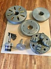 Lathe Tools 6 4 Jaw Chin Yu Chuck Chuck Adapter Plate 8 Faceplate And More