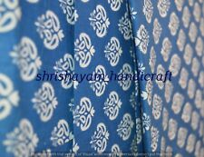 20 Yard Indigo Blue Fabric Quilted Fabric Indian Hand Block Printing Fabric