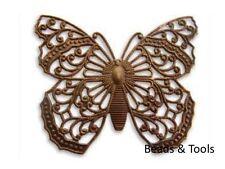 VINTAJ Natural Brass Filigree Butterfly P150 Pendant Findings BEADS & TOOLS