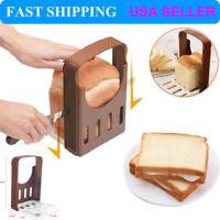 Bread Loaf Toast Sandwich Slicer Cutter Mold Maker Kitchen Guide Slicing Tools