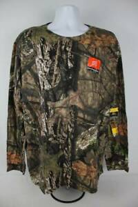 NEW Mens Mossy Oak Break Up Country Shirt 2XL 50-52 Camo Scent Reduction Hunting