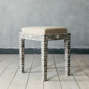 Graham and Green Maxi Grey Mother of Pearl Stool