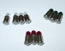 Ersatzlampen MS4 rot,grün,klar - 19V -  Farbe nach Wahl  10 Stück   NEU