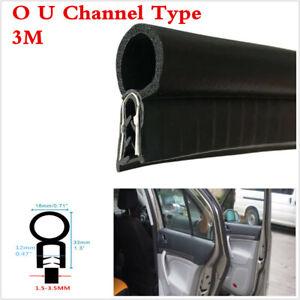 3M Car Door Frame Window O U Channel Edge Moulding Trim Seal Trunk Strip Black