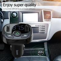 Dual USB Car Phone Charger 2 Port Universal Bluetooth Handsfree Digital Display