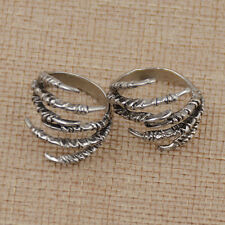 2Pcs Claw Dreadlock Clips Silver Color Dread Hair Accessories Adjustable Women