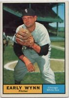 1961 Topps #455 Early Wynn VG-VGEX+ Chicago White Sox FREE SHIPPING