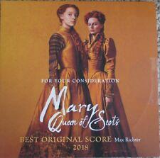 MARY QUEEN OF SCOTS FYC BEST ORIGINAL SCORE PROMOTIONAL CD MAX RICHTER