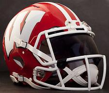 WISCONSIN BADGERS NCAA Gameday REPLICA Football Helmet w/ OAKLEY Eye Shield