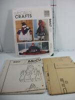 McCall's Crafts Pattern 9447 Snowman Wall/Door Hanging Door Drafter By Faye Wine