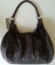 SUPPLE LEATHER SHOULDER HOBO BAG ENMON Espresso  ..
