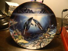 Robert Lyn Nelson Underwater Paradise Plate Moonlit Moment Danbury Mint Whales