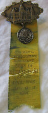 "1931 Sons Union Civil War Veterans Encampment Pin Badge DES MOINES IOWA Army 4"""