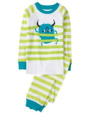 Gymboree Monster Striped Long Sleeve Pajama Gymmies NWT Boys Size 6