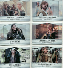 Game of Thrones Valyrian Steel 100 Card Platinum Edition Parallel Metal Set 4/35