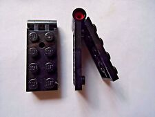 LEGO PART 3149c01 BLACK  2 x 5 HINGE PLATE COMPLETE ASSEMBLY x 2