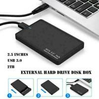 2.5'' SATA USB 3.0 HDD Hard Drive External Enclosure SSD Disk Box Case Caddy -UK
