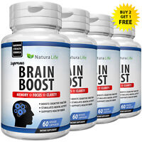 Brain Booster Nootropics Mental Focus Concentration Cognitive Enhancer Pills