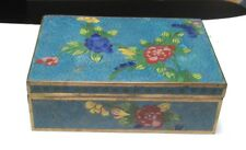 CLOISONNE BLUE ENAMEL JAR TRUNK BOX