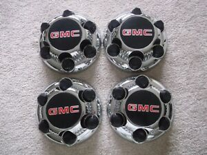 4 GMC wheel Center hub Caps Sierra Yukon Safari Savana 15067579 Chrome 1999-2018