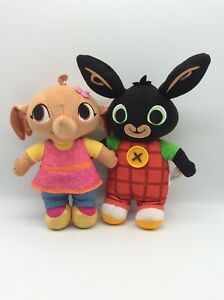 """Talking Bing Bunny And Sula Approx 9"""" Talking Soft Toys Plushies"""