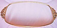 VINTAGE MATSON GOLD TONE VANITY DRESSER PERFUME HOLDER OVAL MIRROR 18.50 LONG
