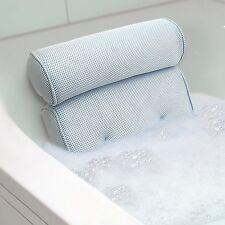 Bath Spa Pillow Cushion Neck Back Support Foam Comfort Bathtub Tub w/Suction Cu