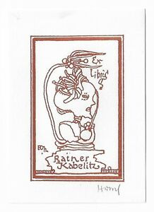 HORST HUSSEL: Exlibris für Rainer Kabelitz