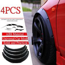 4pcs DIY Universal Car Wide Body Wheel Arch Eyebrow Fender Flare Protector Black
