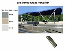 "DUAL PONTOON BOAT w/light BIMINI TOP 96""-102""W x 48""H x 16 'L  8oz POLYESTER"