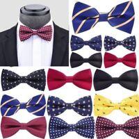 Wedding Ties Men Adjustable Satin Tuxedo Classic Party Novelty Bow Tie Necktie #