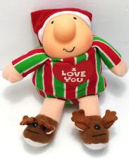 Ziggy Tom Wilson 1991 Stuffed Animal Plush Toy I Love You Christmas Reindeer b